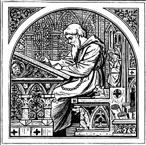 Medieval-Clergy-scribe