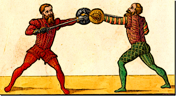 Early Medieval Fighting Practice Using small Buckler Shields