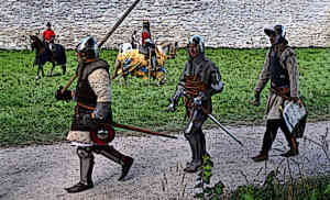 Medieval Castle Staff Military