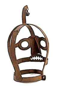 An Iron Branks or Scolds Bridle