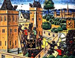 Medieval Knights Defend a Castle