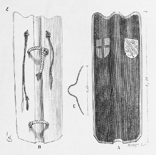 Back and Front of Pravise Shield