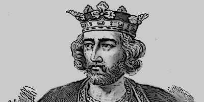 Medieval King Edward I Illustration Portrait