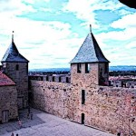 Medieval French Castle in Carcassonne